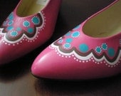Reserved for giacomo VINTAGE hot pink HIGH HEELS - Cotton Candy
