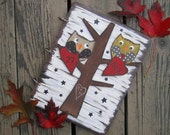 WEDDING GUEST BOOK - Hand Painted Wood Keepsake - Personalized