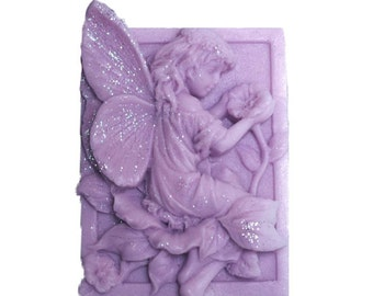 Lavender Soap - Fairy Soap  -  Organic  Soap -  Glycerin Soap  -  Moisturizing Soap - Decorative Soaps - Essential Oil Lavender