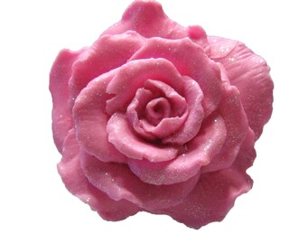 Rose Soap  - Organic Soaps - Pink Soaps  -  Decorative Soap -  Gift Soaps - Shabby Chic - Moisturizing Soap  - Essential Oil Rose