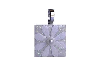 Birthday Pendant - Jewelry Pendants - Ceramic Tile -  White Pearl Pendant -  June Birthday -  Birthday Gifts