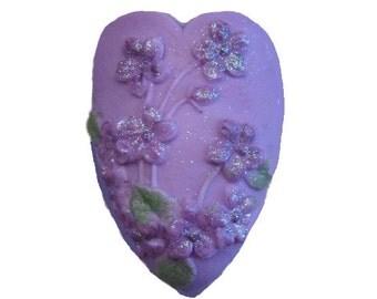 Violet Soap - Organic Soap - Decorative Soap -  Purple Soap -  Flowers  - Natural Soap -  Glycerin Soap - Soap  - Fragrance Oil Mulberry