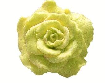 Yellow Rose Soap  -  Vegan Soaps   -  Decorative Soaps  -  Organic Soap  -  Moisturizing Soap  -  Flower Soaps - Fragrance Oil Almond Scent