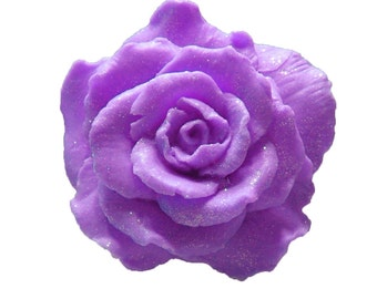 Rose Soap  -  Purple Soaps   -  Decorative Soaps -  Gift Soaps  -  Moisturizing Soap  - Organic Soap - Fragrance Oil Lilac