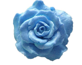 Blue Rose Soap  -  Blue Soaps   -  Decorative Soaps -  Gift Soaps  -  Moisturizing Soap  - Organic Soap -  Plumeria Scent