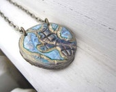 Blue planet pendant - earth eco-friendly necklace - Made to order