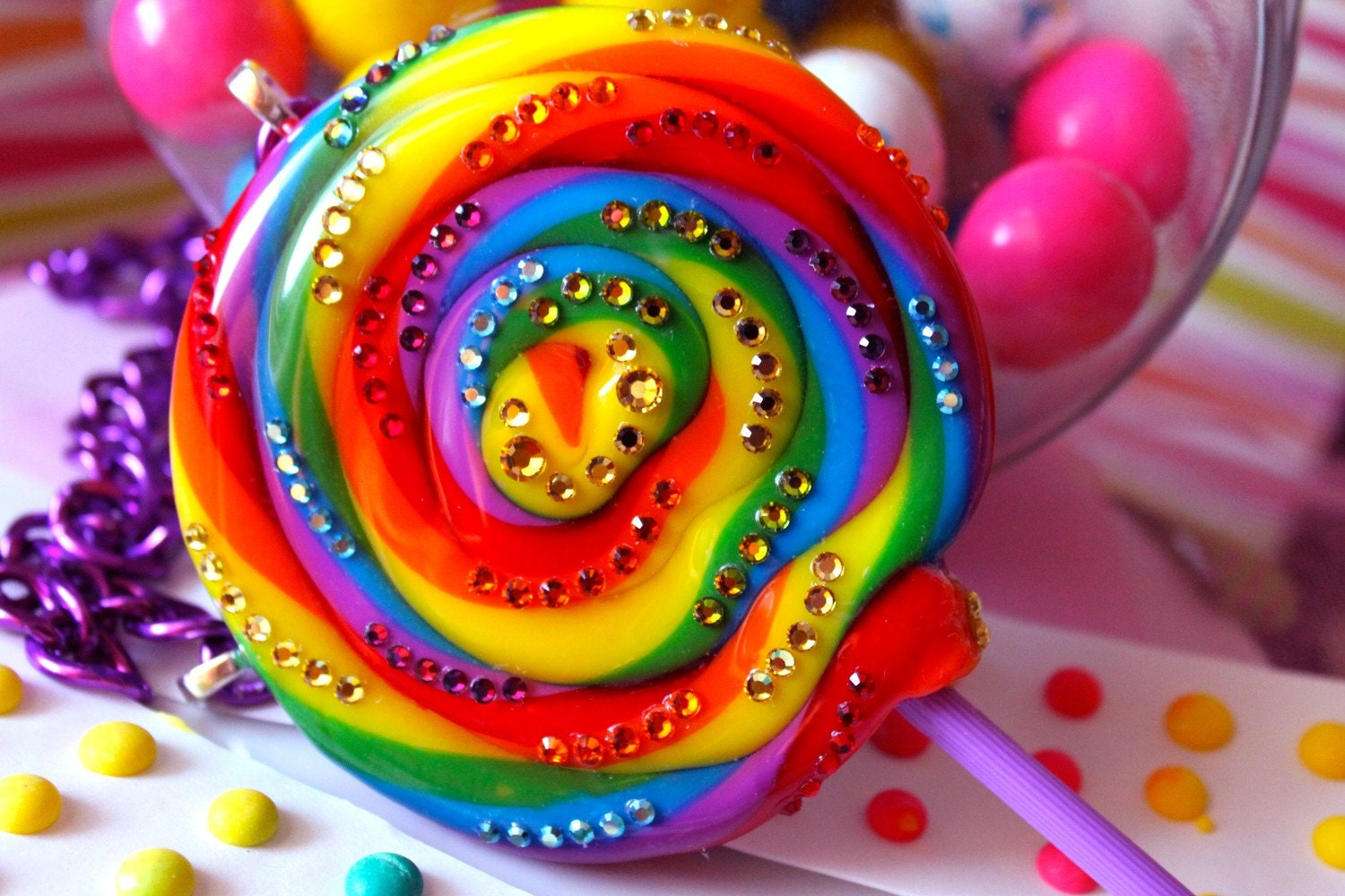 Super Duper Lollipop Luxe Candy Resin Candy Glam