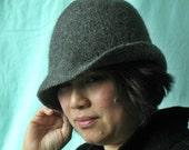Grey Ghost Felted Wool Hat