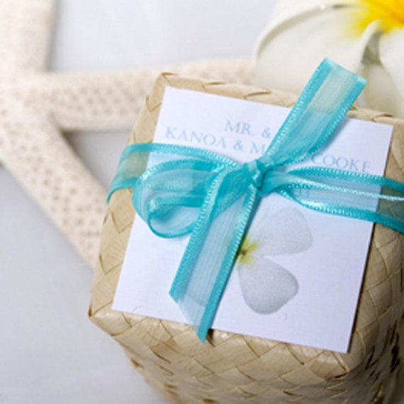 Wedding Gifts Hawaiian : Items similar to Beach Wedding FavorsHawaiian Sea Salt Body Scrubs ...