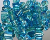 Blue fade to Green Beads Item 0135