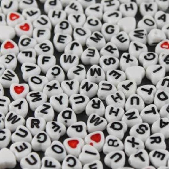 Heart letter beads Item Z324
