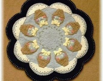 Spring/Easter Basket Penny Rug/Candle Mat DIGITAL PATTERN