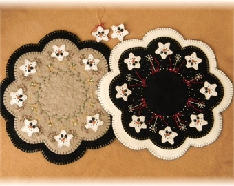 Starry Night Penny Rug/Candle Mat Set DIGITAL PATTERN