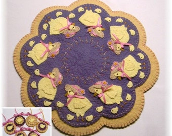 Everywhere a Chick, Chick Penny Rug/Candle Mat DIGITAL PATTERN