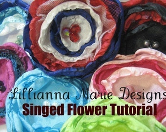 PDF Tutorial Singed Fabric Flowers