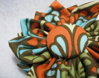 PDF Tutorial Fabric Flower Headband, Brooch, Clip