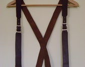 Buckled Leather Suspenders