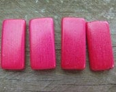 LAST LOT 20 Pack Bamboo Tiles Red Great for jewelry, altered art Ship from Australia