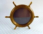 R E S E R V E D  Nautical Brass Photo Frame