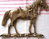 Vintage Key Holder with a horse