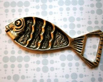 Fish Brass Bottle Opener