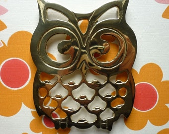 Brass Owl Pot Trivet