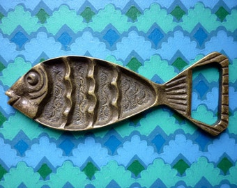 GLU GLU Brass Fish Bottle Opener