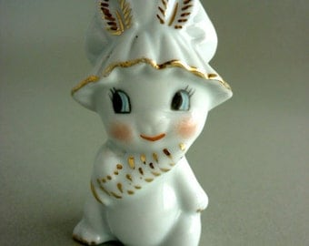 Cute Porcelain Bunny with golden paintings
