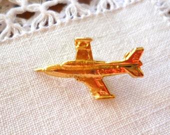 Gold Plane Pin