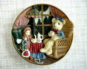 3D Time for Tea Wall Plate