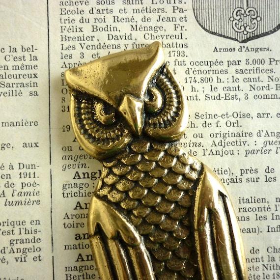 Vintage Brass Owl Bottle Opener