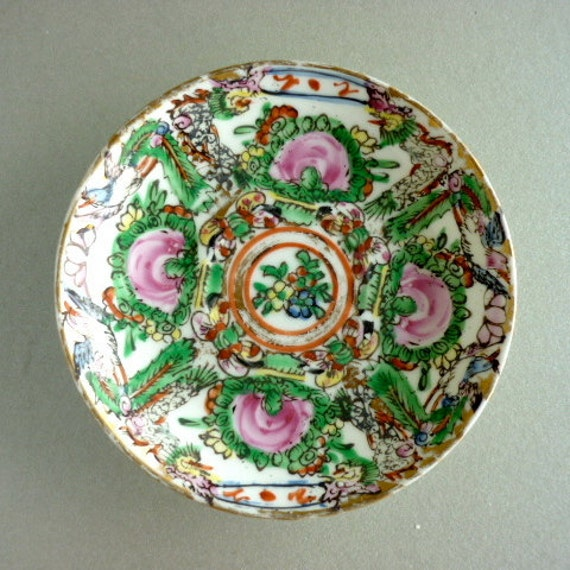 Antique Hand Painted Macao Plate