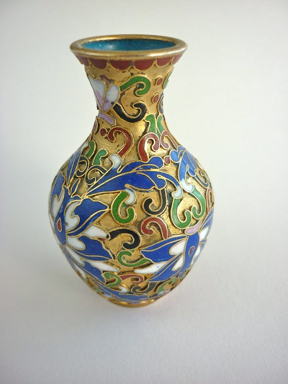 Cloisonne Antique Chinese Small Vase