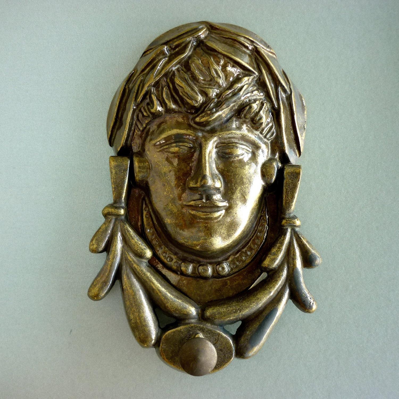 Parisienne style brass door knocker by portuguesevintage for Custom made door knockers