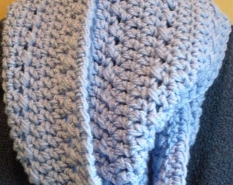 Cowl neck Scarf in Blue