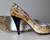 Genuine Snakeskin Shoes Size 7N