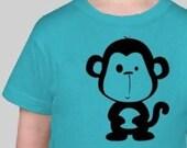 a WonkyMonkey named Cuthbert - Toddler Tshirt - Turquoise