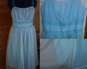 50% OFF EVERYTHING Ethereal Blue Vanity Fair Nightgown - Size 38