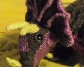 Digital file Pdf Download Tracy Triceratops Toy Diinosaur pdf download knitting pattern
