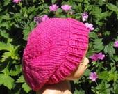 Knitting Pattern digital pdf download- Baby Silky Super Slouch hat knitting pattern pdf download