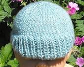 instant digital file pdf download knitting pattern - Baby Silk Sunday Peak Beanie Cap Hat knitting pattern - pdf download