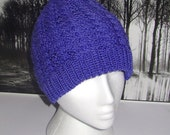 Instant Digital File PDF Download Cable Beanie hat pdf knitting pattern