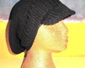 Digital pdf file knitting pattern - Garter Stitch Peak Slouch Hat pdf download knitting pattern