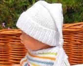 knitting pattern digital pdf download - Baby Wee Willie Winkie Hat pdf knitting pattern  - madmonkeyknits