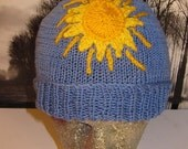 Instant Digital File PDF Download knitting pattern only-Sunny Day Beanie Hat knitting pattern