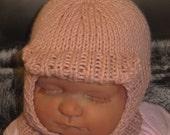 digital file download knitting pattern only-madmonkeyknits Baby Soft Peak Balaclava pdf knitting pattern