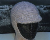 Instant Digital File PDF Download knitting pattern - Chunky/Aran Peak Garter Stitch Balaclava and Beanie pdf knitting pattern
