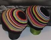 madmonkeyknits knitting pattern only- Lucky Dip Striped Beanie Hat pdf knitting pattern