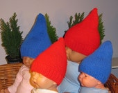 Instant Digital File pdf download madmonkeyknits Baby Gnome Hats -2 designs in 1 pattern -pdf knitting pattern
