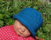 Instant Digital pdf download knitting pattern madmonkeyknits Baby Simple Garter Stitch Roll Brim Beanie Hat pdf knitting pattern